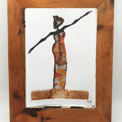 Handmade Paper Picture - African Lady