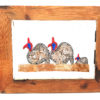 Handmade Paper Picture Guinea Fowl