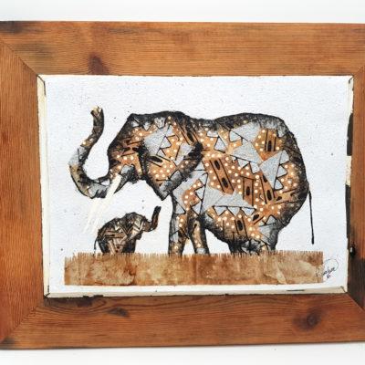 Handmade Paper Picture Elephant