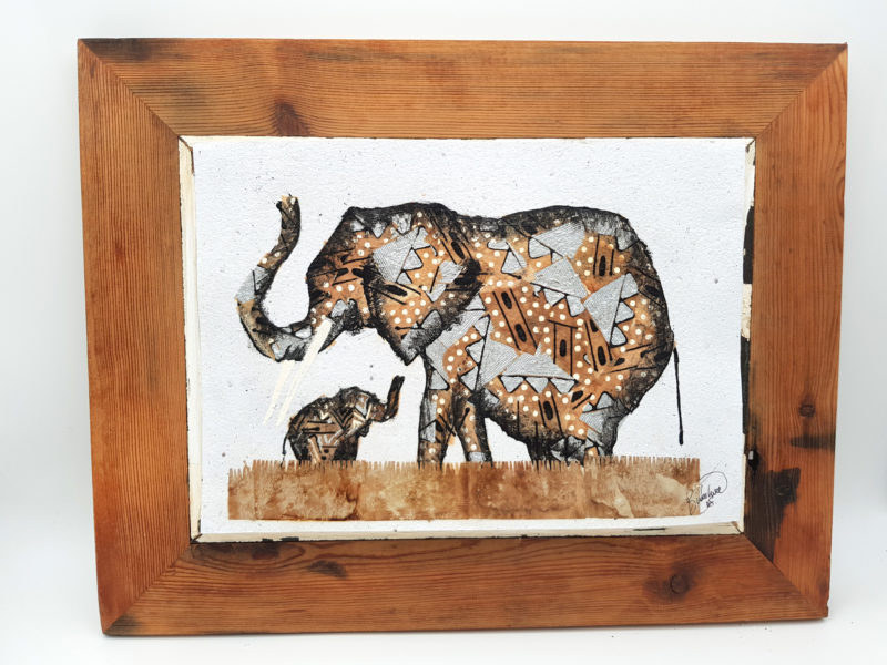 Handmade Paper Picture Elephant