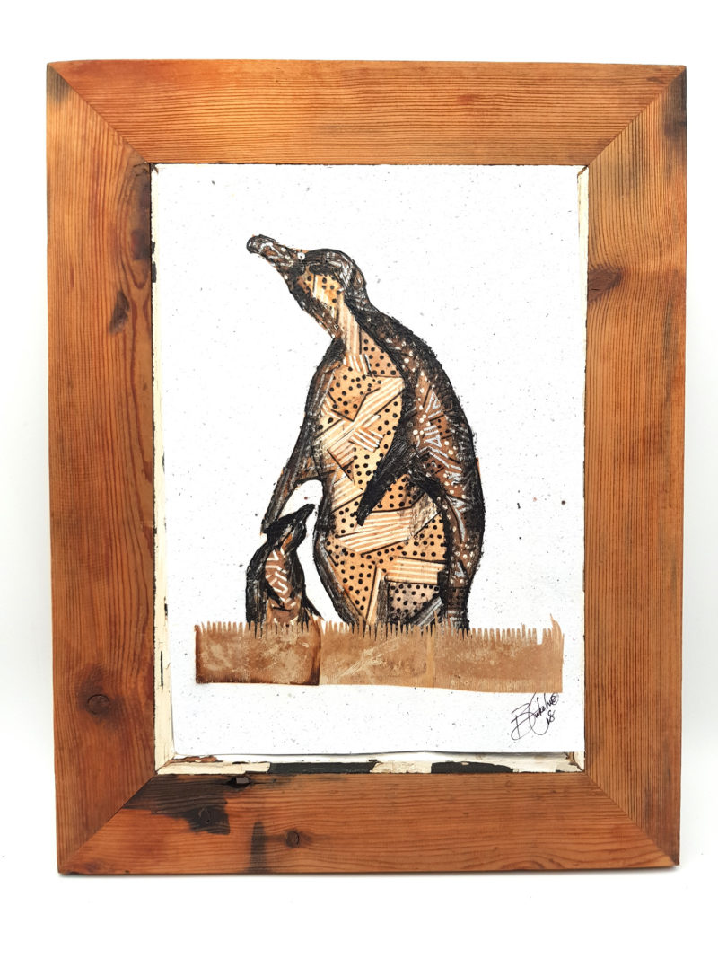 Handmade Paper Picture Penguin
