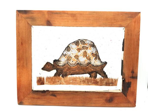 Handmade Paper Picture Tortoise