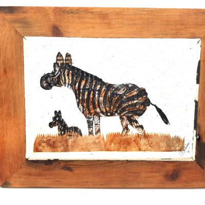 Handmade Paper Picture Zebra